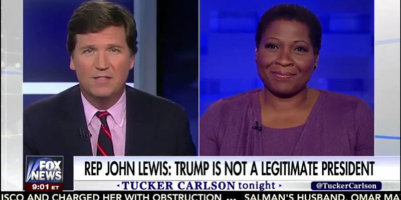 "VIDEO: Tucker Carlson Has On A ""Candidate For DNC Chair"" … Jehmu Greene?"