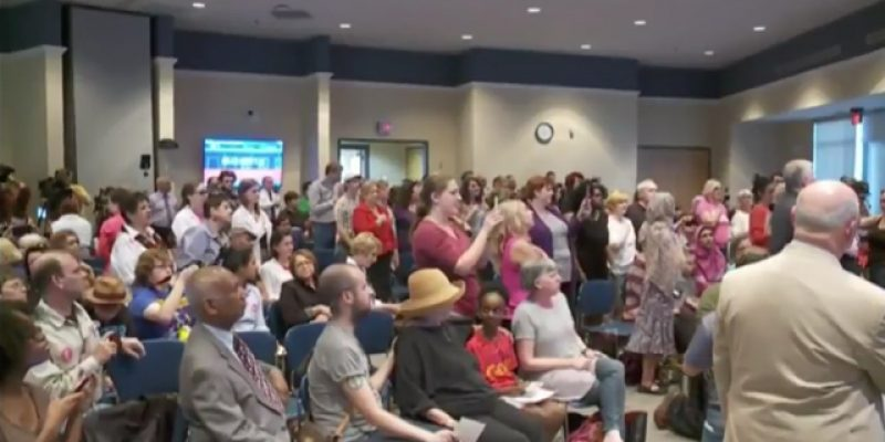 By The Way, The Indivisible Mob Booed The Invocation At Cassidy's Town Hall Yesterday