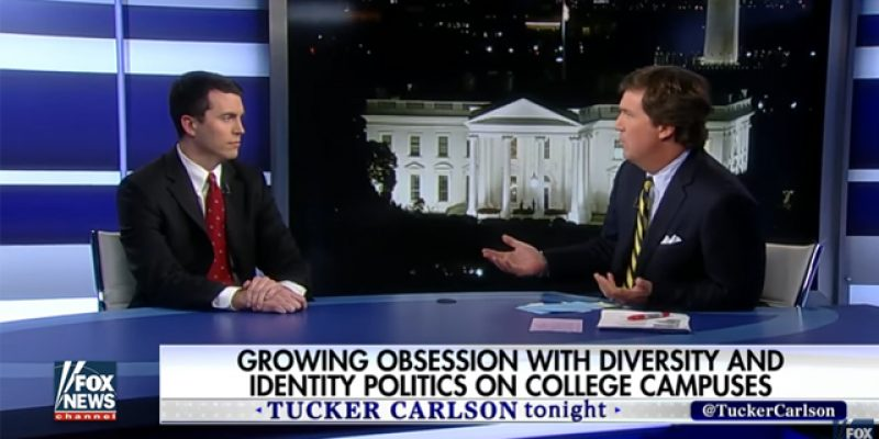 "Today's Tucker Carlson Fix: Scott Greer, Author Of ""No Campus For White Men"""