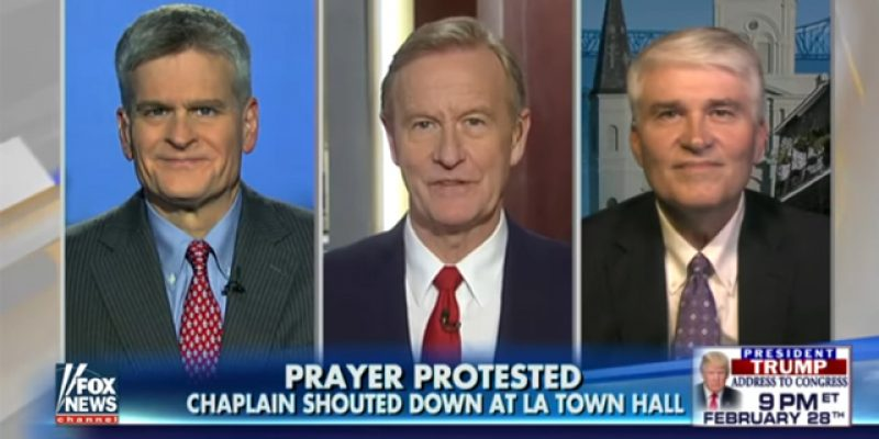 VIDEO: Cassidy, Chaplain Booed For Invocation At Metairie Event Last Week, On Fox & Friends