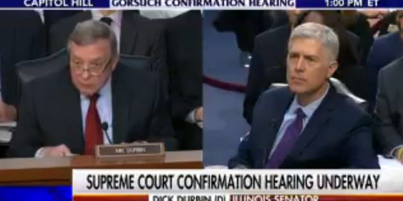 VIDEO: Dick Durbin Plays Stupid Games, Gets Stupid Prizes From Neil Gorsuch