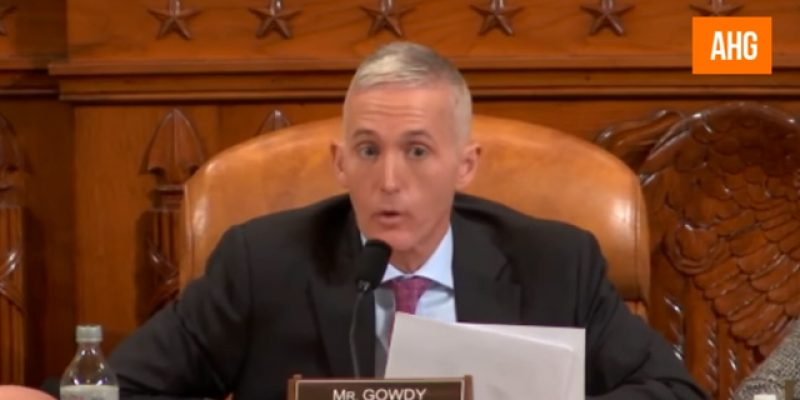 VIDEO: Trey Gowdy Simmers And Nearly Boils Over In Questioning Comey About Trump, Russia And Classified Leaks