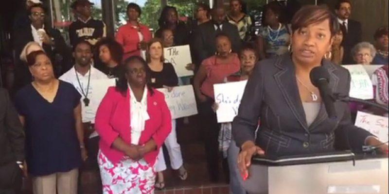VIDEO: Tasha Clark Amar's Victims Blow Up Denise Marcelle's Press Conference Defending The COA Crooks