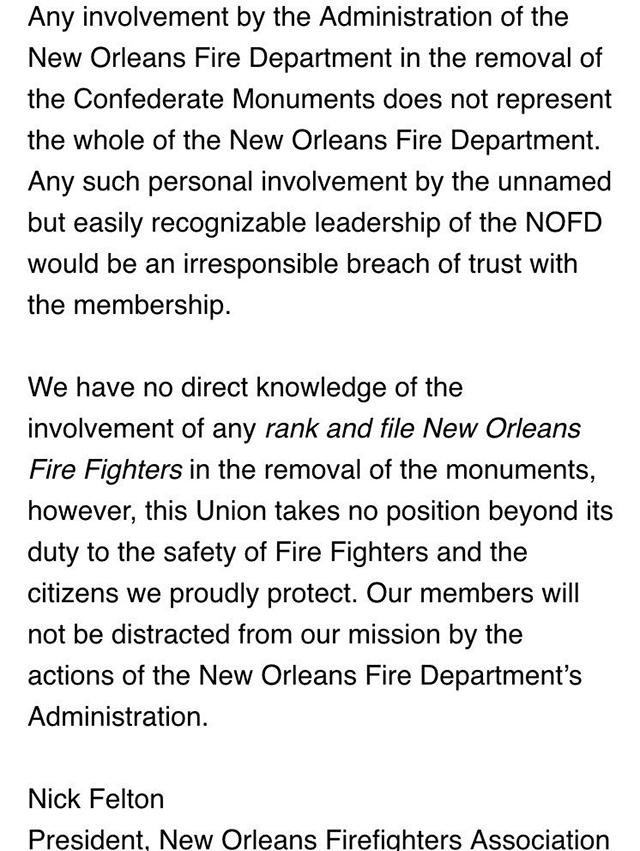 nofa statement