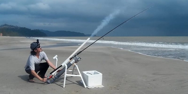 GENIUS: They're Using Potato Guns As Bait Cannons For Beach Fishing Now
