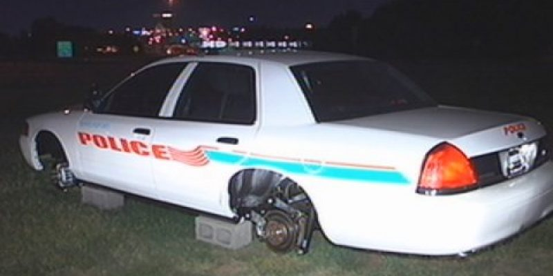 Shreveport Cop Car Has Its Rims And Tires Stolen