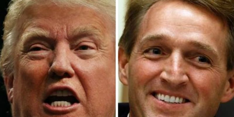Sen. Jeff Flake (R) Fights Republican Leadership and President Donald Trump