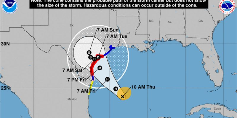 This Thing In The Gulf Might Make Landfall As A Cat 3 Hurricane…
