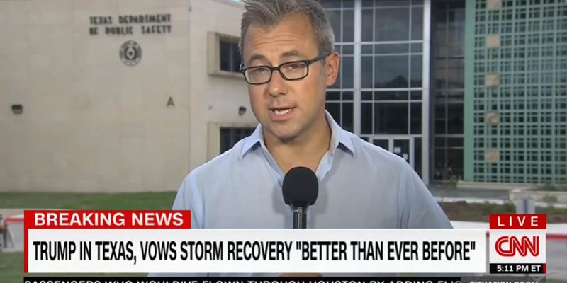 (Video) FAGAN: Texas Flood Victims Shout You Are Fake News During CNN Live Shot