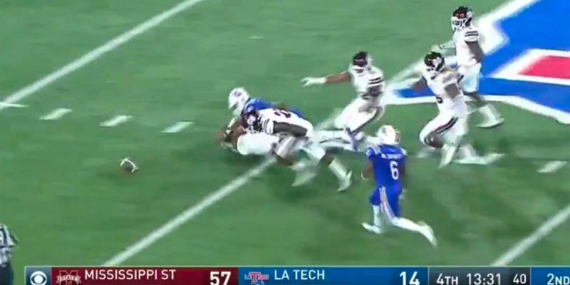 """The Obligatory """"Louisiana Tech Lost 87 Yards On One Play"""" Video"""