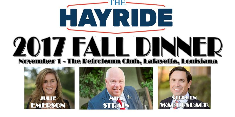 Join Us Nov. 1 In Lafayette For The Hayride's Fall Dinner!