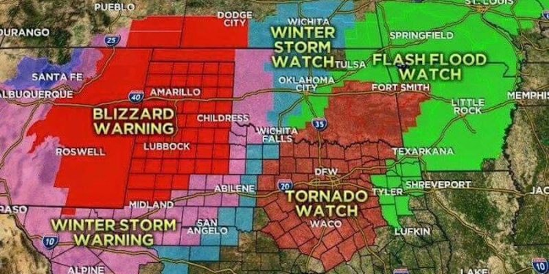 Texas to Start off New Year with Three Day Freeze, National Weather Service Harkens 4 P's