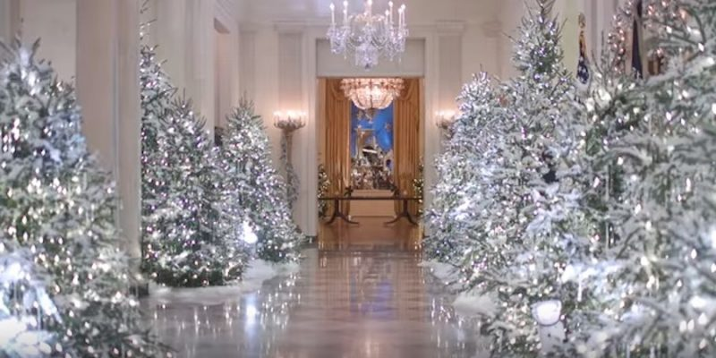 Trump Family Celebrates Christmas at the White House: 53 Trees, 12,000 ornaments, 31,000 Cookies … [video]