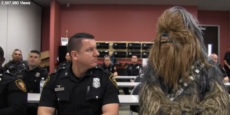 Star Wars Lovable Furry 'Wookie' Joins Forth Worth Police Recruiting Efforts [video]