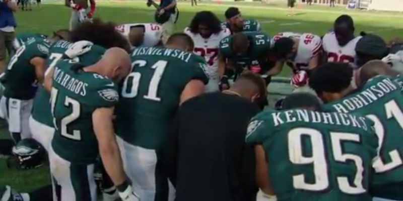 Finally Some Good News from the NFL: Faith in the Eagles' Locker Room [video]