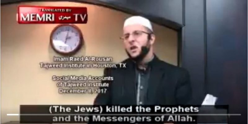 Happy Holidays from this Houston Imam who called on Muslims to Kill Jews [video]