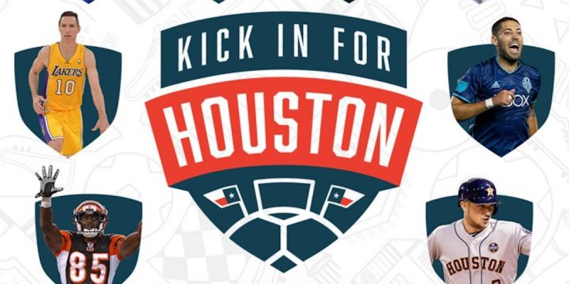 Watch Famous Athletes Play #KickInForHouston Today & Help Hurricane Harvey Survivors [videos]