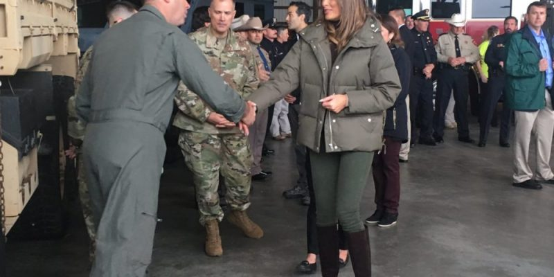 First Lady Melania Trump Beautiful as Ever Visits Harvey Victims Post Flood