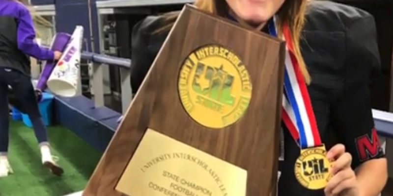 First Girl to Win State Title Football Championship is of course from Texas [video]