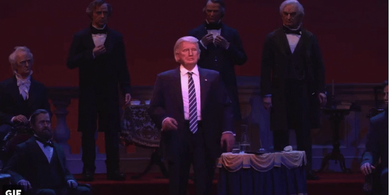 "Donald Trump Joins Disney's ""Hall of Presidents"" [video]"
