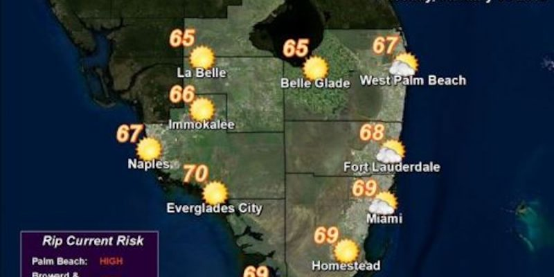 More Global Warming Cold Spell Sweeping Florida: Winter is Coming