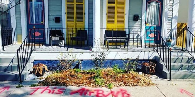 COURRÈGES: New Orleans Airbnb Vandalism Goes Viral, Reflecting Frustration With City Policies