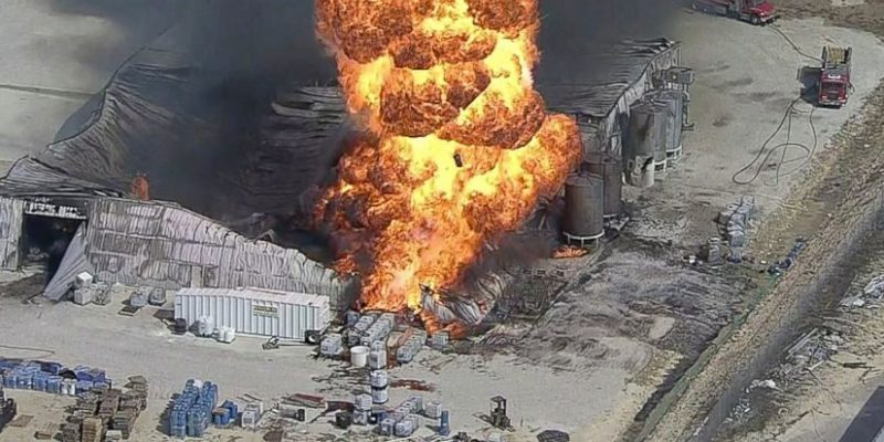Chemical Plant Explodes Near Dallas Because Worker Drags His Shoe?