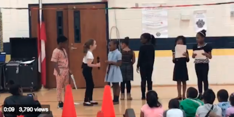 "Georgia school casts 7-year-old white girl as ""White Supremacist"" in play [video]"