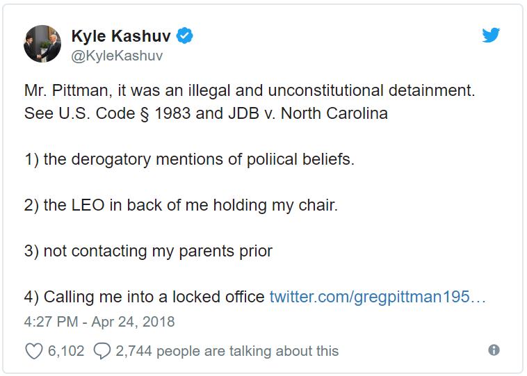 Kyle Kashuv Tweet