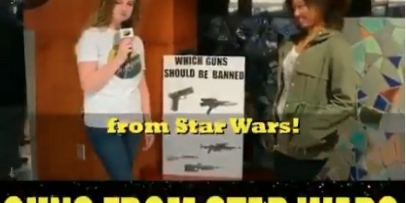 Incredible: Clueless College Students Want to Ban Guns from STAR WARS [video]
