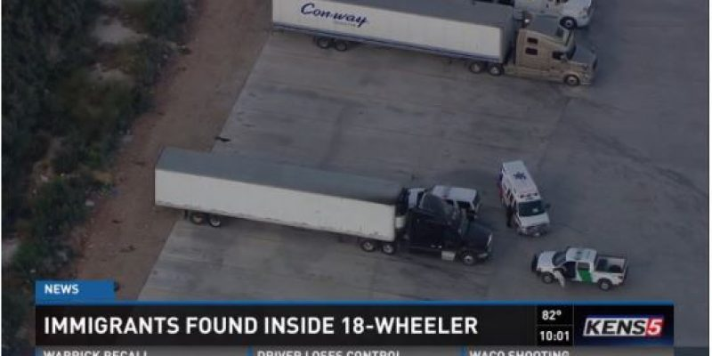 Tractor trailer full of illegals stopped 50 miles from Texas-Mexico border [video]