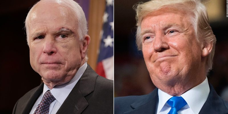 McCain: Trump Unwelcome At My Funeral