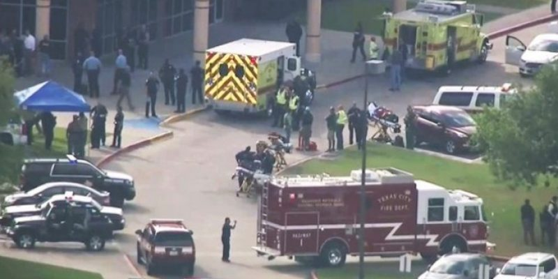 Texas high school shooting: possibly 10 dead, 1 suspect in custody, 1 detained
