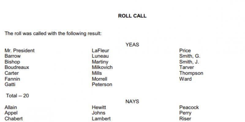 sb 6 vote