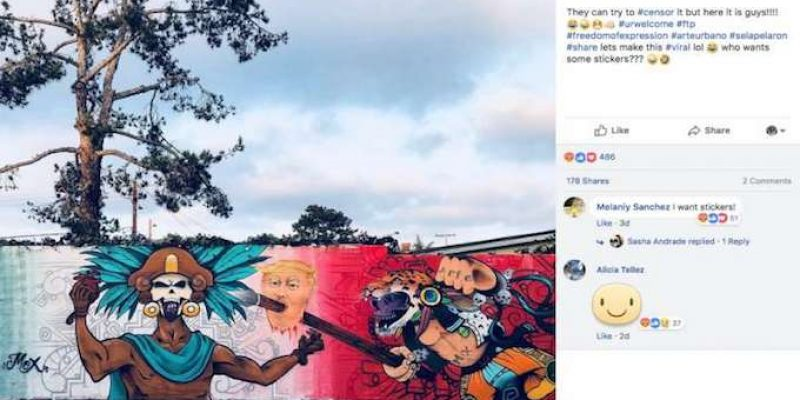 SICK: School mural depicts Trump's severed head on top of spear, no one has been fired