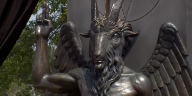"""Satanists"" Troll Arkansas Legislators And Conservative Christians With A Baphomet Statue"