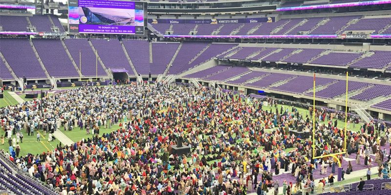 "Vikings Stadium Provided For Muslim ""Festival Of Sacrifice"" Celebration"