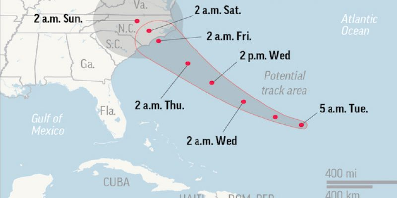 Carolinas, Virginia start evacuations as Hurricane Florence looms