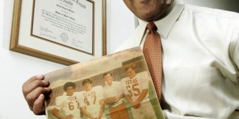 Texas' first black football letterman Whittier has died