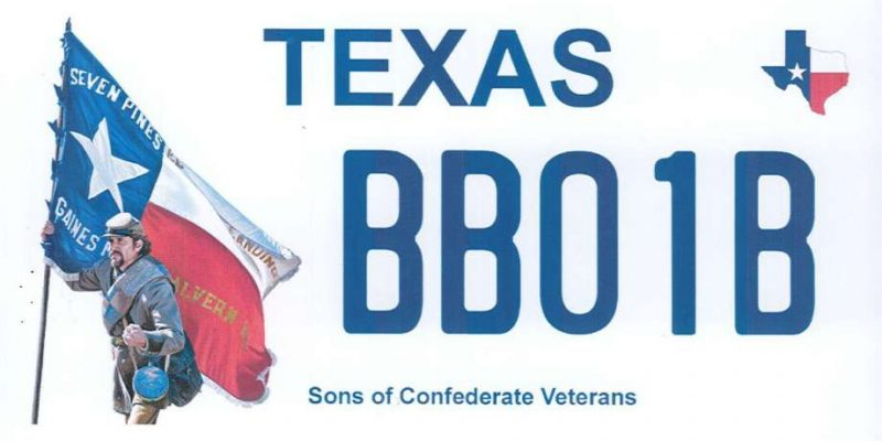 Texas agriculture commissioner backs plan for Confederate license plate