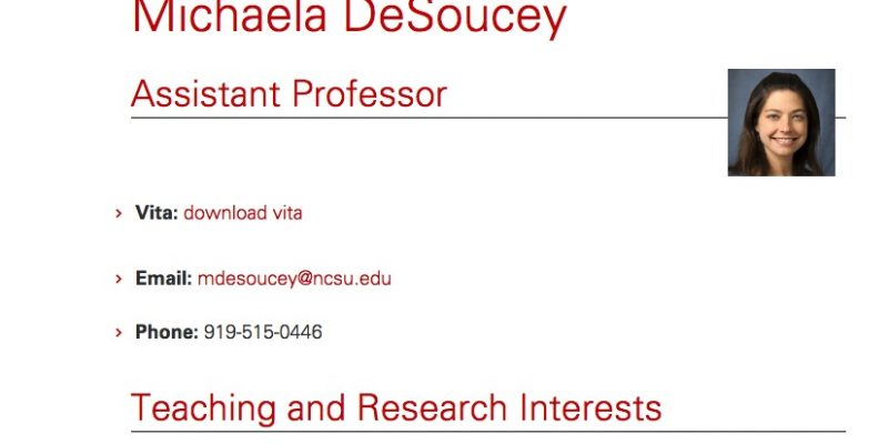 "NC State professor Michaela DeSoucey hands out paper instructing students to block Fox News from parents' TVs, ""turn out against Trump"""