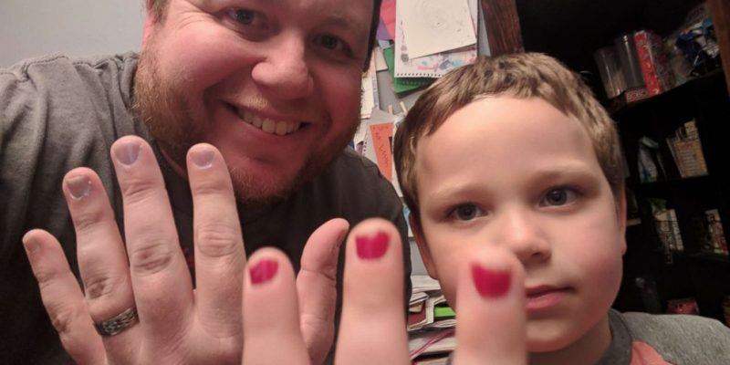 5-Year-Old Boy Wearing Nail Polish Revered By Liberal Community