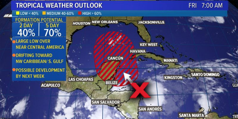 Chances Are That A Tropical Depression Will Form In The Gulf Next Week