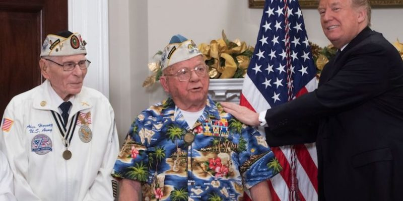 "One of the best memorial videos you'll ever see of veteran singing ""Remember Pearl Harbor"""