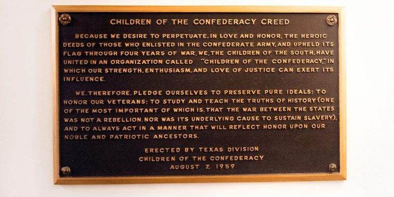 An Old Civil War Plaque Gains A New Misunderstanding
