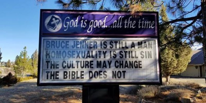 Pastor loses job over accurate sign about homosexuality