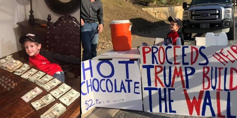 7 year old's hot chocolate stand raises $2.5k for border wall, despite 'Little Hitler' insults