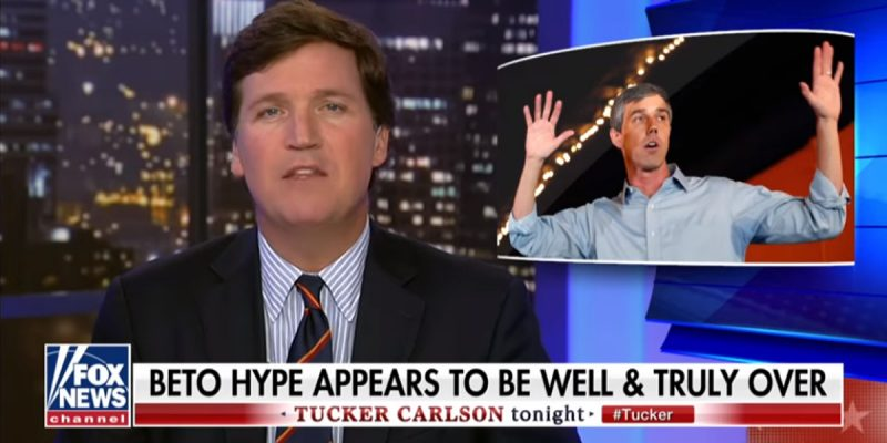 VIDEO: Tucker Carlson Delivers A Brutal Eulogy For Beto O'Rourke's Presidential Campaign