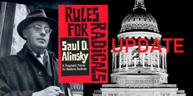 UPDATE: Alinsky Bill Peeled Off Senate Automatic Passage Agenda By Conservatives