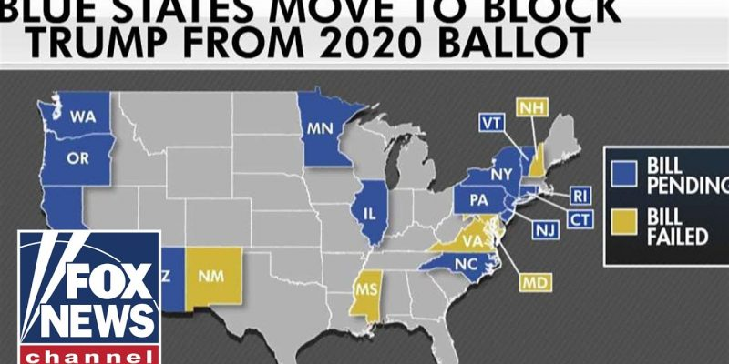 Blue States Move To Keep Trump Off 2020 Ballot